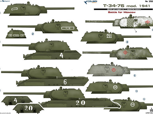 35037 Colibri Decals 1/35 Декали Т-34-76 обр. 1941 г, часть 3, Битва за Москву