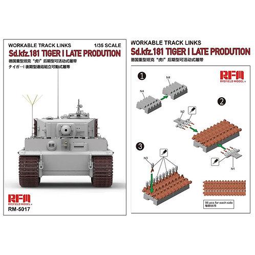 (под заказ) Рабочие траки Tiger I Late, пластик - Rye Field Model 1:35 RM-5017