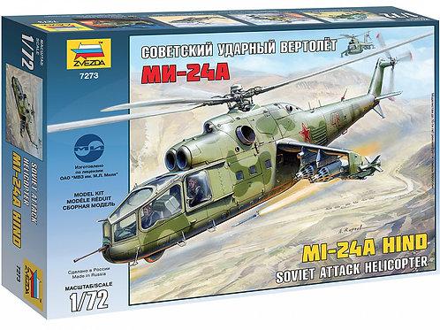 Советский ударный вертолет Ми-24А - Звезда 7273 1/72