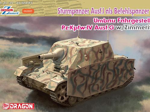 Sturmpanzer IV командирский, с циммеритом - Dragon 6819 1:35