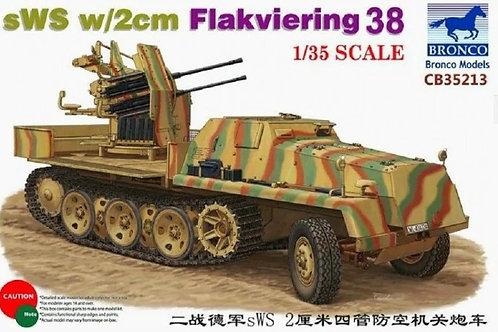 Самоходная зенитка sWS w/2 cm Flakvierling 38 Bronco 1:35 CB35213