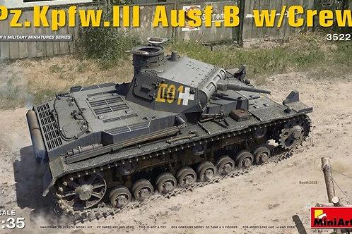 Немецкий танк Pz. III Ausf. B с экипажем (спец. издание) - MiniArt 35221 1:35