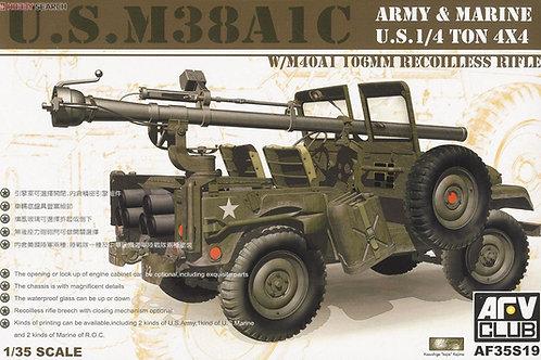 Внедорожник M38 A1 C и 106-мм пушка M40A1 - AFV Club 1:35 AF35S19 под заказ