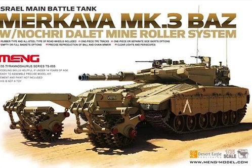 Израильский танк Меркава Mk.3 BAZ с минным тралом - Meng Model 1:35 TS-005