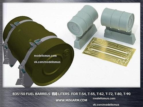 MINIARM B35150 Танковые топливные бочки 150 л (2 шт), включает фототравление