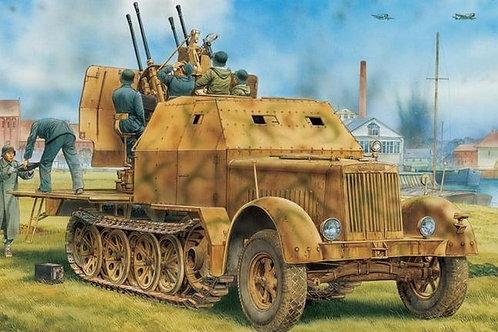 Sd.Kfz. 7/1 с зениткой 2cm Flakvierling 38 w/Armor Cab - Dragon 6533 1:35