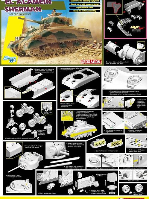(под заказ) EL ALAMEIN M4 Sherman + Magic Tracks - Dragon 1:35 6617