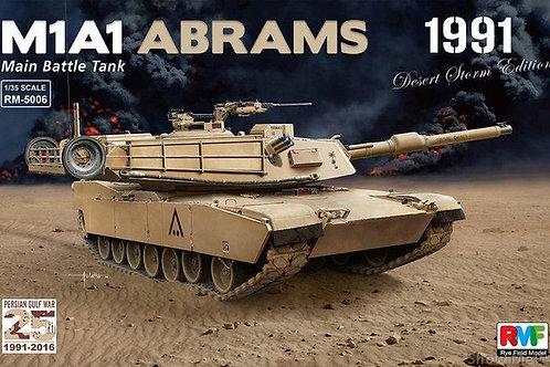 """Танк Абрамс M1A1 Abrams, операция """"Буря в пустыне"""" 1991 г - RFM RM-5006 1/35"""