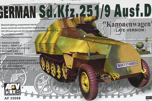 "Бронетранспортер Sdkfz 251/9 Ausf D ""Kanonenwagen"" - AF35068 AFV Club 1/35"