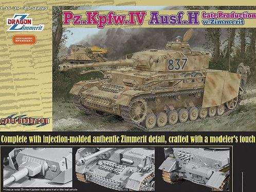 (под заказ) Pz.Kpfw.IV Ausf.H Late Production w/Zimmerit - Dragon 6560 1:35