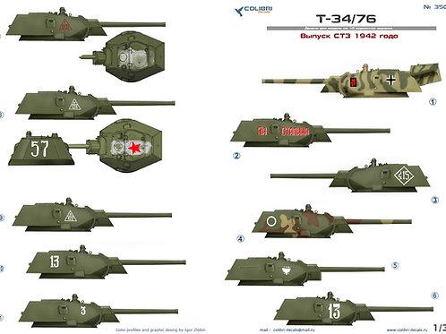 35057 Colibri Decals 1/35 Декали Т-34-76 выпуск СТЗ 1942 года