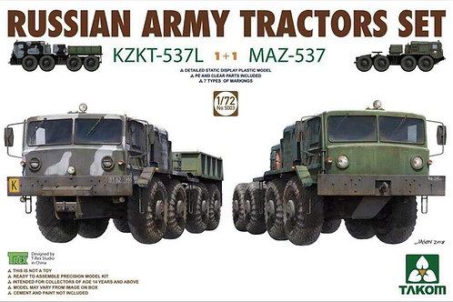 Набор из двух тягачей КЗКТ-537Л 1+1 МАЗ-537 - Takom 1:72 5003