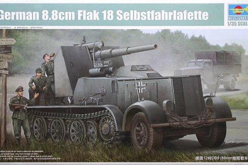 88-мм зенитная пушка FlaK 18 на базе Sd.Kfz.8 12 тонн - Trumpeter 01585 1:35