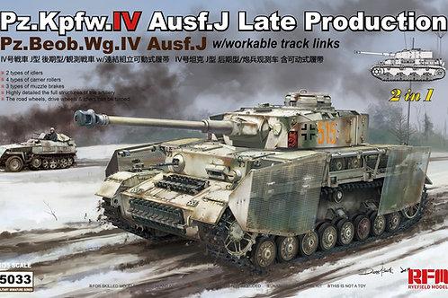 Немецкий танк Pz.IV Ausf.J поздний / командирский - RFM 1:35 RM-5033