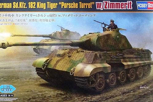 Королевский Тигр Порше с циммеритом - Hobby Boss 84530 1:35 + ствол и чехол