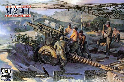 Гаубица 105mm Howitzer M2A1 & Carriage M2A2 - AFV Club 1:35 AF35182