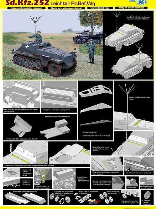 (под заказ) Командирский БТР Sd.Kfz.252 Leichter Bef.Wagen - Dragon 1:35 6571