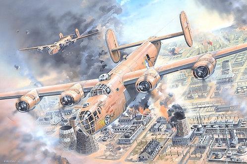 (под заказ) Самолет B-24D Liberator с интерьером - Hobby Boss 83212 1/32