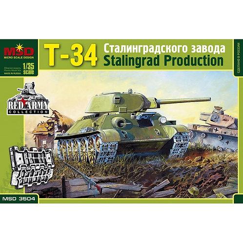 3504 MSD Танк Т-34-76 Сталинградского тракторного завода СТЗ - Макет 1/35