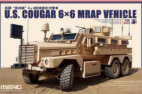 (под заказ) МРАП Кугуар U.S. Cougar 6x6 MRAP Vehicle - Meng Model SS-005 1:35