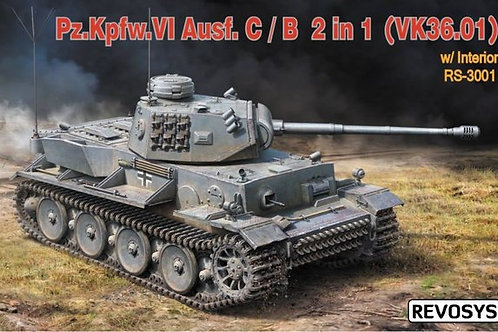 Pz.VI Ausf C/B (VK 36.01) с интерьером - Revosys RS-3001 1/35