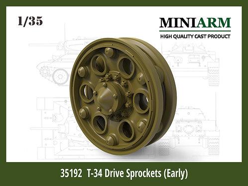 Ведущие колеса Т-34 ранние (фигурный бандаж) - MINIARM 1/35 B35192