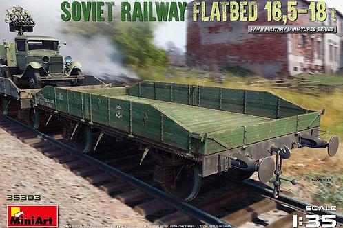 Советская железнодорожная платформа 16,5-18 тонн - Miniart 35303 1/35
