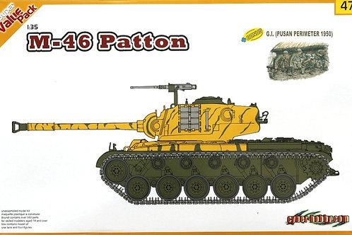 Американский танк M46 Patton + фигурки - Dragon 9147 1/35