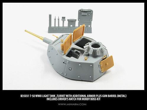 35031 MINIARM Башня Т-50 с доп. бронированием (Hobby Boss) - b35031 1:35