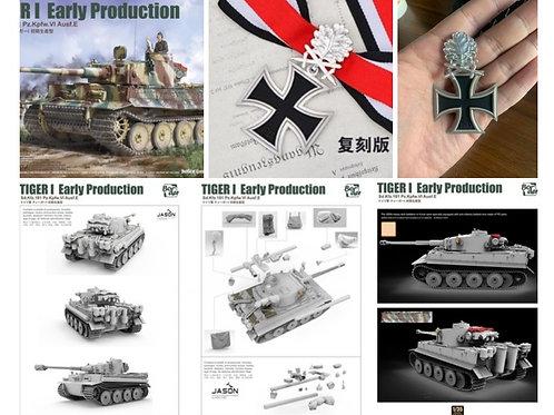 Немецкий танк Тигр ранний, Курск 1943, BORDER 1:35 BT-010 - предзаказ с бонусами
