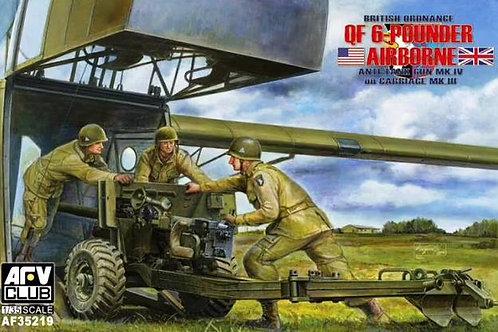 Пушка Ordnance QF 6 Pounder Mk.IV on Carriage Mk.III - AFV Club 1:35 AF3521