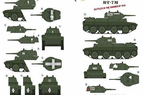 35072 Colibri Decals 1/35 Декали БТ-7М легкий танк, лето 1941 года (БТ-7 М)
