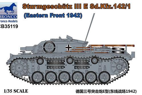 Самоходка Stug III Ausf. E, Восточный фронт 1942 - Bronco CB35119 1:35