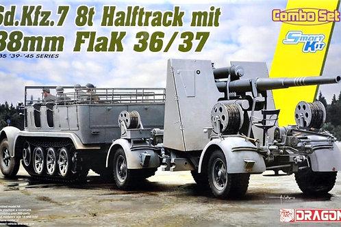 (под заказ) Sd.Kfz.7 8(t) Halftrack + 88mm FlaK 36/37 - Dragon 6948 1/35