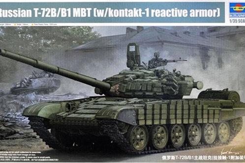 """Российский танк T-72Б / Т-72Б1 с ДЗ """"Контакт-1"""" - Trumpeter 05599 1/35"""