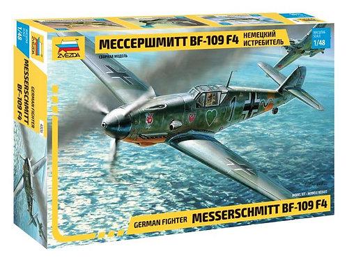 4806 Звезда 1/48 Немецкий истребитель Мессершмитт Bf-109 F4