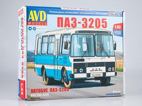 Сборная модель автобус ПАЗ-3205 пригородный - AVD 4040 1/43 4040AVD