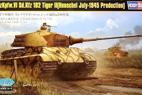 Королевский Тигр Хеншель, июль 1945 - Hobby Boss 1:35 84533 + ствол и чехол