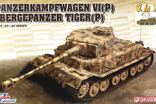 (в пути) Тигр Порше + БРЭМ Bergepanzer Tiger(P) - Dragon 6869 1/35