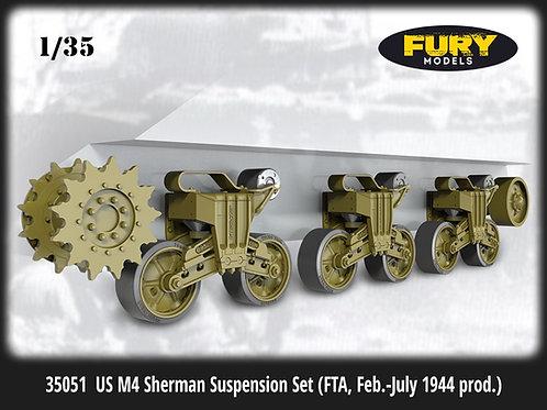 Fury Models (= Miniarm) 1/35 35051 Подвеска M4 Sherman VVSS (ходовая в сборе)