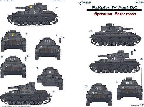 "35063 Colibri Decals 1/35 Декали Pz.Kpfw.IV Ausf.D/C операция ""Барбаросса"""