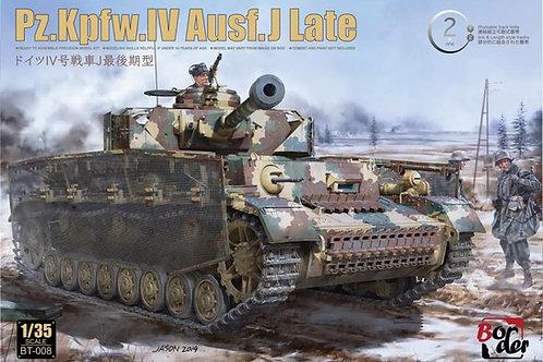 (в пути) Pz.IV Ausf.J поздний - Border BT-008 1/35 (ствол металл + траки)