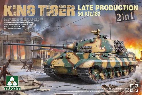 Королевский Тигр, поздний выпуск с ПНВ, 2в1 - Takom 1:35 2130