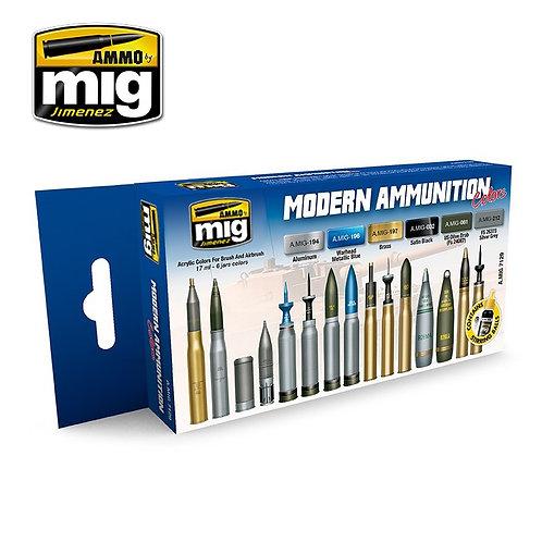 Ammo Mig A.MIG-7129 Набор красок для современных боеприпасов MODERN AMMUNITION