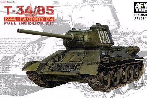 (под заказ) Т-34-85 1944 года, завод №174 с интерьером - AFV Club AF35145 1:35