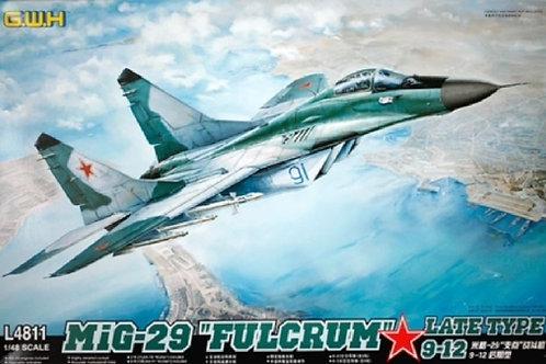 "(под заказ) Самолет МиГ-29 9-12 ""Fulcrum"" Late - Great Wall Hobby 1:48 L4811 GWH"
