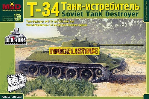 MQ-3503 Советский танк истребитель Т-34 с 57-мм противотанковой пушкой MSD Макет