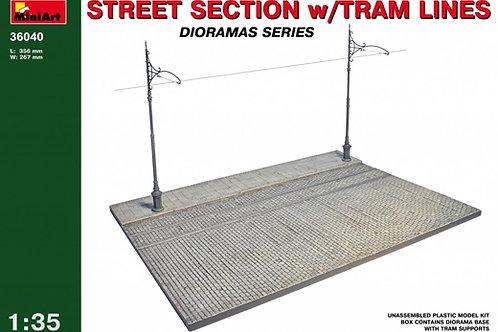 36040 MiniArt 1/35 Фрагмент улицы с трамвайными путями - набор для диорамы