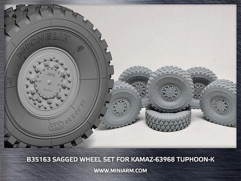 MINIARM 35163 КамАЗ-63968 Тайфун-К Takom набор колес под нагрузкой 6 шт - b35163