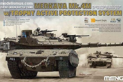 Танк Merkava Mk.4M с защитой Trophy APS - MENG Model TS-036 1:35